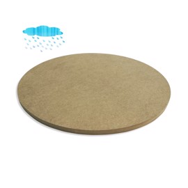 Round Waterproof Green MDF