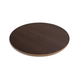 Round Smoked Oak Laminate MDF