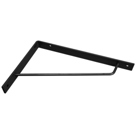 Modern Shelf Bracket in black steel
