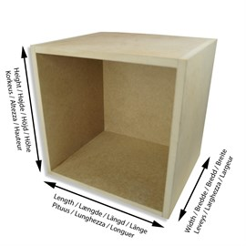 Wooden box MDF 16 mm