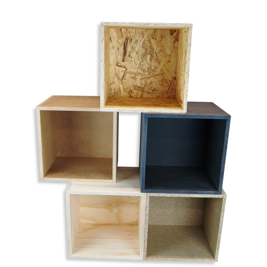 Wooden Box In Pine Plywood Elegant Box For Wall Unit