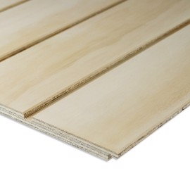 Pine plywood with grooves