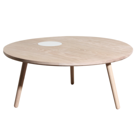 Table MO1 Coffee Table 40cm Soap Treated